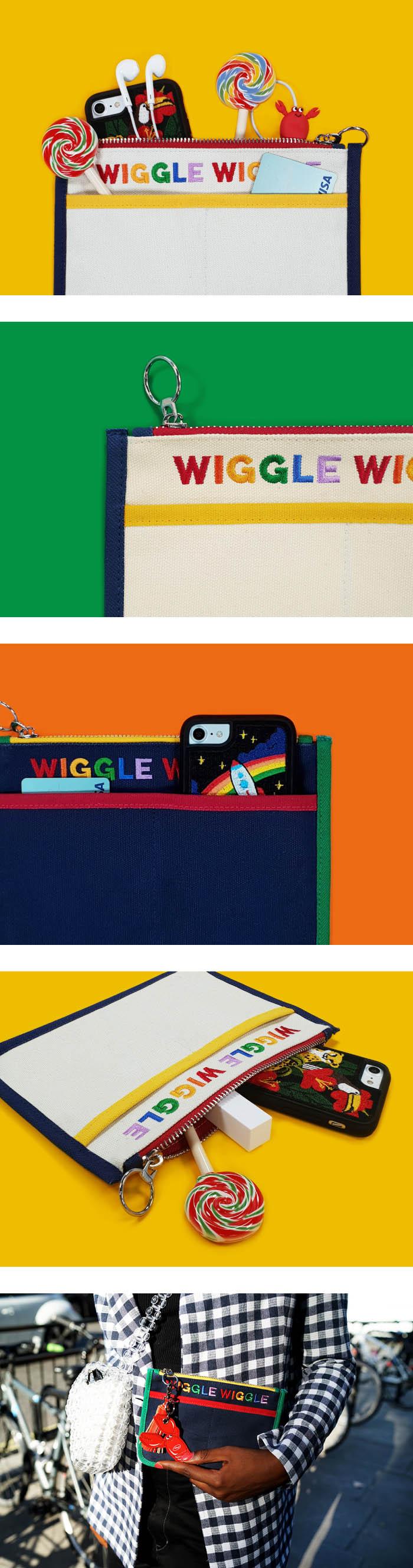 위글위글(WIGGLE WIGGLE) 캔버스 파우치